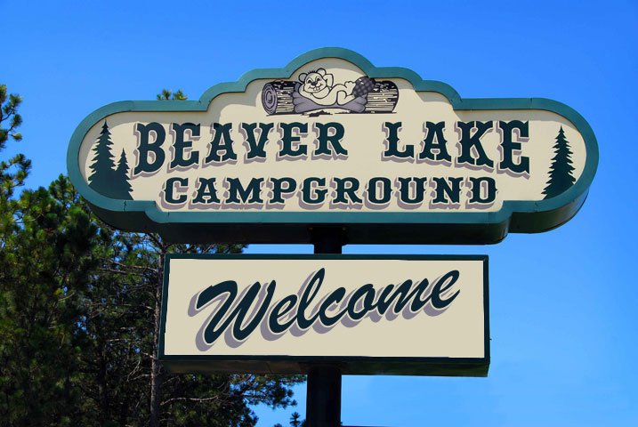 Beaver Lake Campground Sign